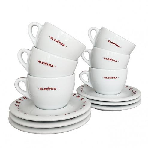 Elektra Cappuccino Cups White