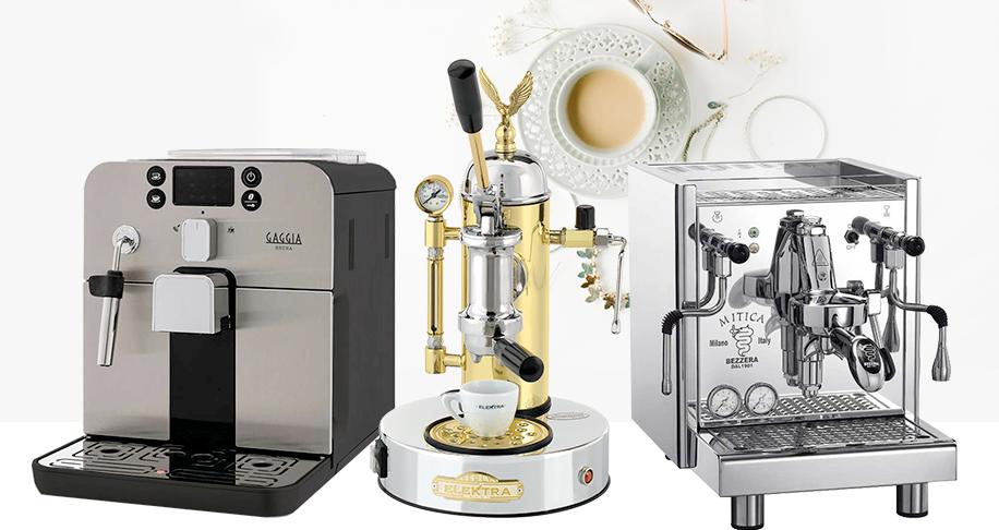 forskellige typer kaffemaskiner